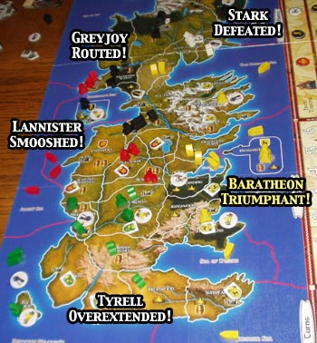 graphic regarding Game of Thrones Printable Map titled Evaluate of A Sport of Thrones: The Board Video game - RPGnet RPG